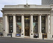 The Central Kansas City Public Library, 14 W. 10th St., is housed in an historic bank building.