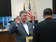 Eric Jenkins is sworn in as the new representative for Ward II in Shawnee.