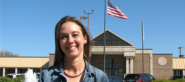 Michelle Distler is the first woman to be elected as Mayor of Shawnee.