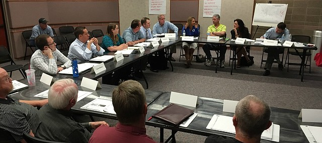 The Street Improvement Program task force met for the first time Thursday at the Shawnee Civic Centre.