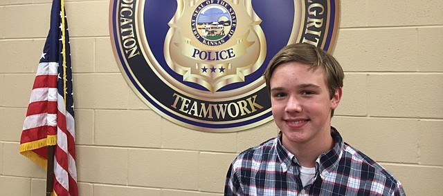 Tyler Orbin, 15, is participating in a Youth Leadership Program through the FBI this summer.