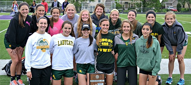 The Basehor-Linwood girls track and field team took second place at the Class 4A regional meet on Friday.