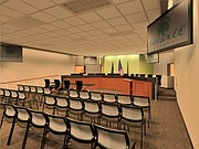 A rendering of the new design for the city's council chambers.