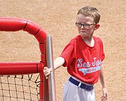 Kaiser Carlile died Sunday, a day after he was hit by a follow-through swing near the on-deck circle during the Liberal Bee Jays' game in Wichita. The boy was wearing a helmet.