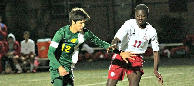 The Basehor-Linwood boys soccer team returns several key players this season, including Jordan Salb (12).