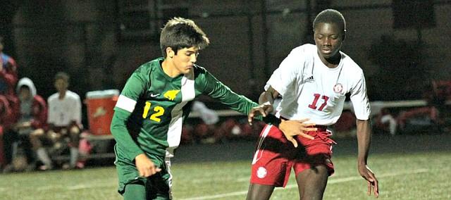 The Basehor-Linwood boys soccer team returns several key players this season, including Jordan Salb (12).