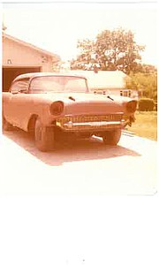 Family photos show Michael Graham's 1957 Chevy just after he salvaged it from a junk yard in the Spring of 1978.