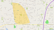 KCP&L outage map showing the outages in the area of Johnson Drive and Quivira Road in Shawnee.