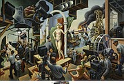 Hollywood, 1937–38. Tempera with oil on canvas, mounted on panel 56 × 84 in. (142.2 × 213.4 cm) 