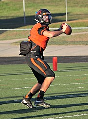 Bonner Springs QB Connor Byers scored six touchdowns against Piper on Friday evening.