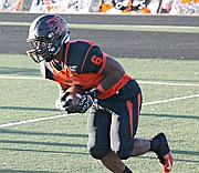 Bonner Springs running back Marcell Holmes rushed for 81 yards against Piper on Friday night.