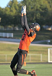 Bonner Springs wide receiver Aaron McGee had three catches for 63 yards on Friday night against Piper.