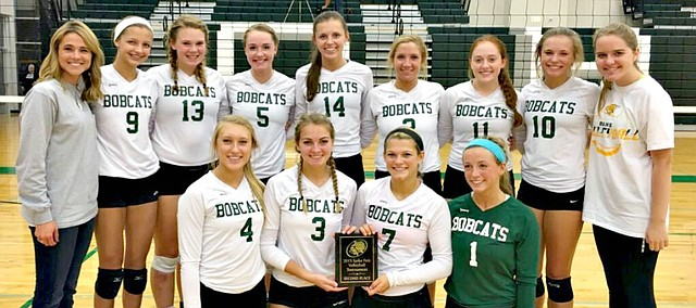 The Basehor-Linwood volleyball team took second place at the De Soto Spike Fest on Saturday.