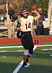 Connor Byers threw for 230 yards against Mill Valley.