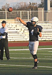 Logan Koch threw for 226 yards against Bonner Springs.