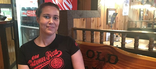 Cassie Brothers is a familiar face to many Old Shawnee Pizza customers.