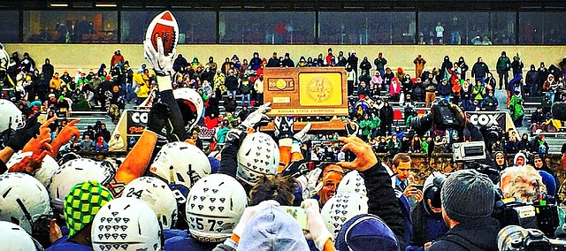 Mill Valley captured the Class 5A football championship on Saturday against Bishop Carroll.