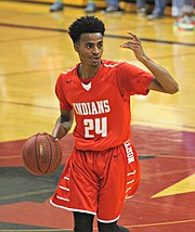 Michael Weathers scored 14 points against Barstow.