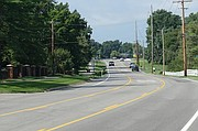 An example of a three lane road with a middle turn lane similar to the one being proposed for Nieman Road.