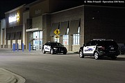 Shawnee officers returned to the Walmart store after losing sight of the suspect vehicle in Kansas City, Kansas.