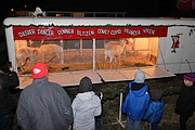 "Live reindeer were a huge draw at Shawnee's ""Christmas Around Town"" event on Saturday evening."