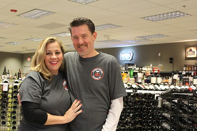 Scott and Lisa Kaczmarek are the owners of Stanley Station Wine & Spirits, 13231 Shawnee Mission Parkway.