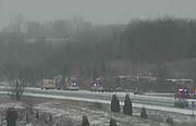 First responders at an injury accident on northbound Interstate 435 just north of Johnson Drive.
