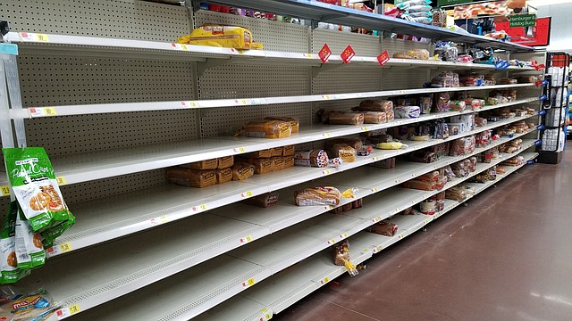 In anticipation of the upcoming ice storm, shoppers have already wiped the bread aisle clean at this Shawnee area grocery store.