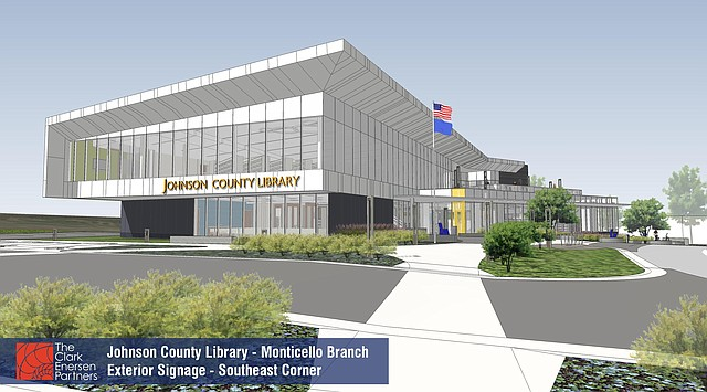 The Monticello Library is set to be constructed near Kansas 7 Highway and Shawnee Mission Parkway this spring. Officials hope the new library can open its doors in 2018.