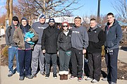 The 2017 Shawnee Police Depatment Plunge Team, from left to right, are Will Sanderson, Andrew Hashman, Virgil Henson, Martin Gilmore, Kate Herrmann, Craig Herrmann, Rob Moser and Brandon Green. Not pictured: John and Terri Wells, Jenn Pennington and Jon Pirie. The team raised $7,500.
