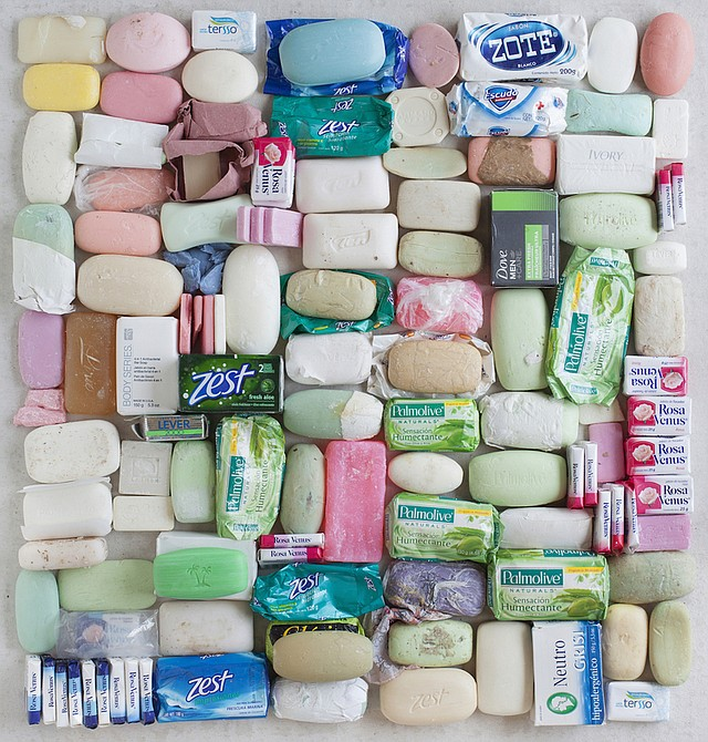This photograph of soap is from Thomas Kiefer's photographic series El Sueño Americano (The American Dream) which presents viewers with the discarded belongings of migrants apprehended by Border Patrol agents near the U.S. / Mexico border.