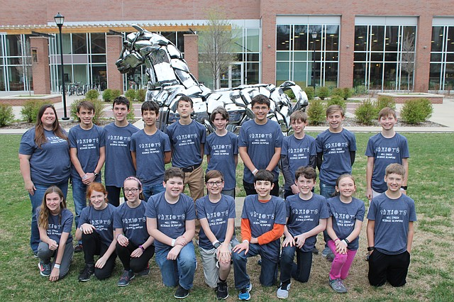The Mill Creek Middle School Science Olympiad team recently placed fourth at the state competition.
