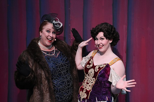 "Trudy Hurley, left, and her daughter, Lauryn, right, are starring in ""Crazy for You"" at Theatre in the Park this weekend."