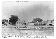 The May 1903 flood causes damage in Linwood. A portion of the community had to be moved because of the flooding on the river.
