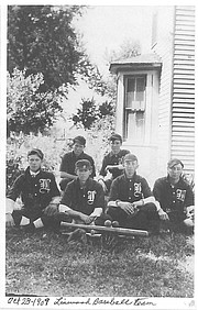 The Linwood baseball team, circa 1909. Linwood is celebrating 150 years with a festival Saturday.