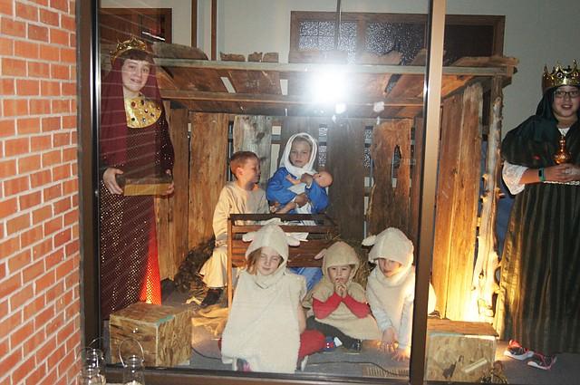 """Children participate in """"Night of the Nativities"""" at Monticello UMC."""