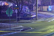 Police found a vehicle crashed in the front yard of 12600 W. 75th Street around 4 a.m. Monday. The driver was found dead in a neighboring yard.