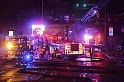 Firefighters from Shawnee and Overland Park responded on the fire in the 5000 block of Nieman Road early Friday.