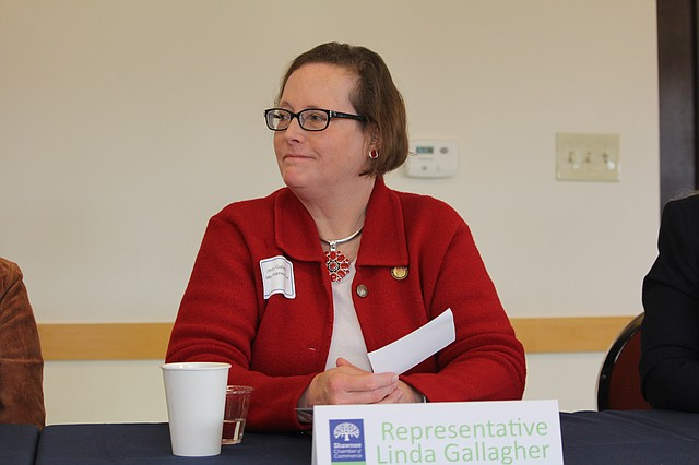 Rep. Linda Gallagher, who represents District 23, was one of four delegates who answered questions during a Shawnee Chamber of Commerce forum on Friday morning.