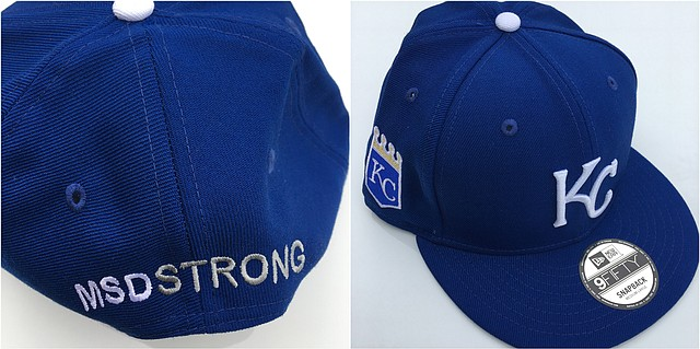 "The Kansas City Mavericks Bantam AA team had three Royals caps inscribed with the hashtag ""MSDSTRONG"" to support rival ice hockey players affected by the recent mass shooting at Marjory Stoneman Douglas High School in Parkland, Fla."