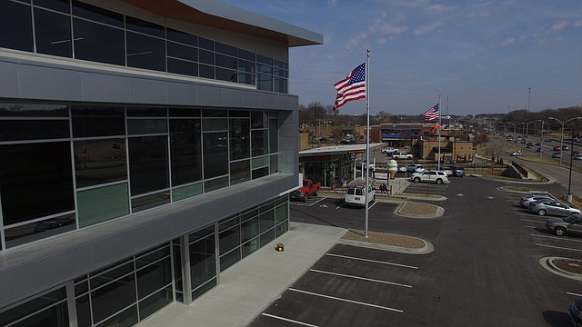 The new Stag's Creek office building, at the northwest corner of Shawnee Mission Parkway and Goddard, is set to open for business April 2.