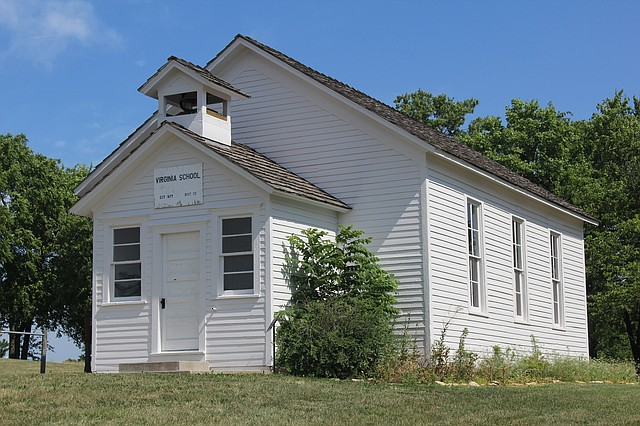 The Virginia Schoolhouse, 7301 Mize Road, is one of the Monticello Township landmarks included on the Monticello Community Historical Society's driving and biking tour. The one-room schoolhouse initially sat near 71st and Clare Road, but was relocated near Mize Elementary School in 2005. The school, for grades 1-8, opened for class in 1878 and operated until 1962.
