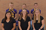 McLouth Homecoming is this week. This year's royalty candidates are, front row, from left,  Julia Johnston, Madison Pope and Kimi Patterson; back row, from left, Asher Robbins, Jeremy Carlton and Garrison Pope.