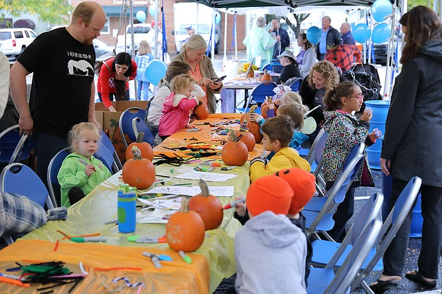 People of all ages enjoyed arts and crafts at the city of Shawnee's annual Scarecrow Festival.