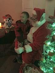 Santa at 2018 Mayor's Christmas Tree Lighting in downtown Tonganoxie.