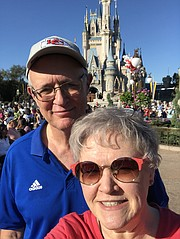 Paula and Steve Gish, Tonganoxie, are at the parade Feb. 3 at  Walt Disney World in Orlando, Fla., for Patrick Mahomes. The couple was visiting family during a trip planned well before the Chiefs made their playoff run toward their Super Bowl chmampionship in Miami.