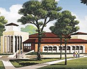 "This is what the ""new"" Collins Library will look like upon completion in 2003."