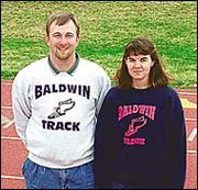 Track coaches Mike and Angie Spielman are gearing up for their first meets of the season. Mike is the head boys track coach for Baldwin High School, and also coaches BHS cross country and the Baldwin Track club, a summer program. Angie is assistant Baldwin Junior High School track coach and also coaches the track club during the summer.