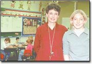 "Lisa Hallier, right, nominated her former teacher, Victoria Davids, to be included in the upcoming edition of ""Who's Who Among Teachers."" Davids was the high school senior's fifth-grade teacher."