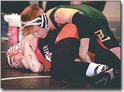 MATT DUKES of Basehor-Linwood was a key component to the Bobcats' 2000-01 season. Dukes was one of five state qualifiers for the wrestlers this year.